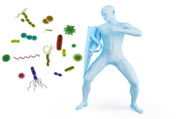 性病の感染から身を守る男性のイメージ図
